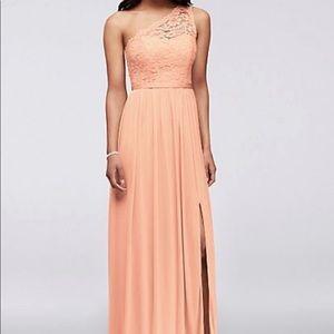 Peach Bellini bridesmaid dress